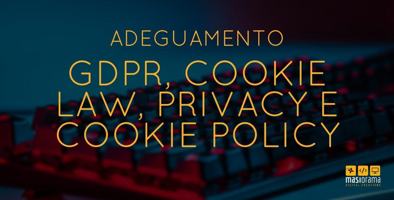 Adeguamento gdpr, cookie law, privacy e cookie policy - Masiorama Digital Creations