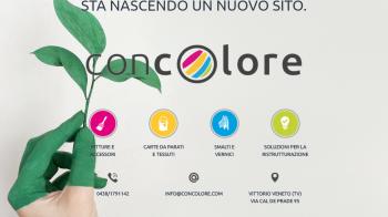 Coming soon page per Concolore - versione desktop