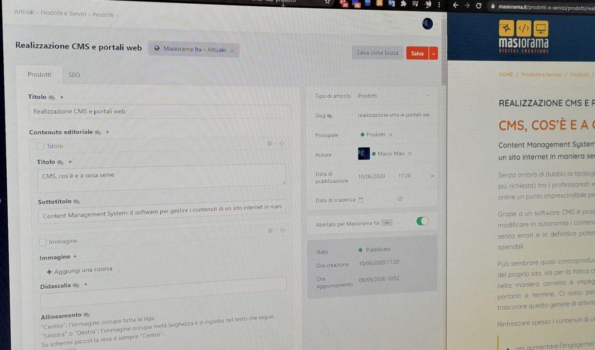 Cms modificare i contenuti del proprio sito con facilita