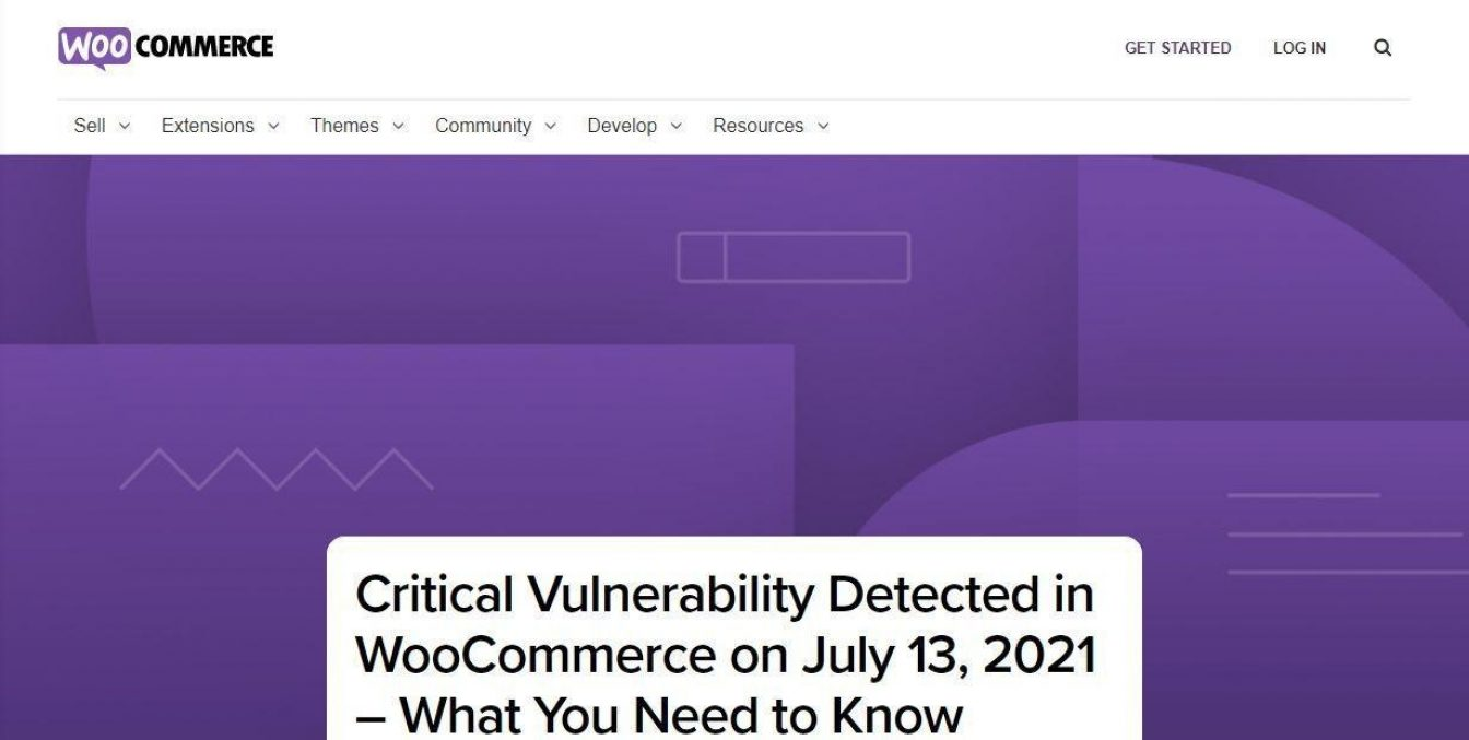 Woocommerce vulnerability