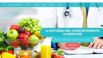 Homepage sito web Binge Eating Disorders