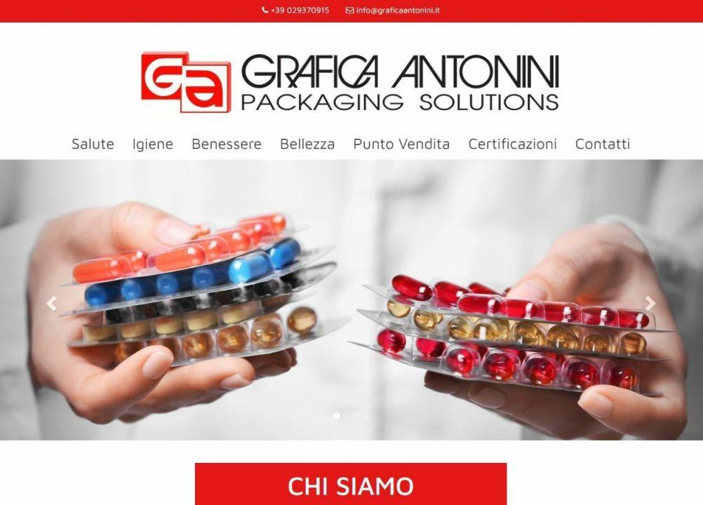 Homepage sito web Grafica Antonini