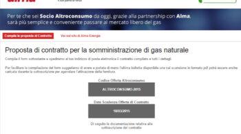 Alma Landing page per vendita contratti gas