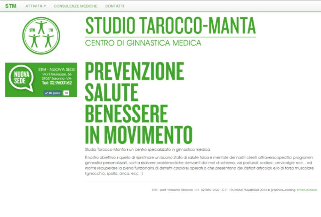 Homepage sito web STM