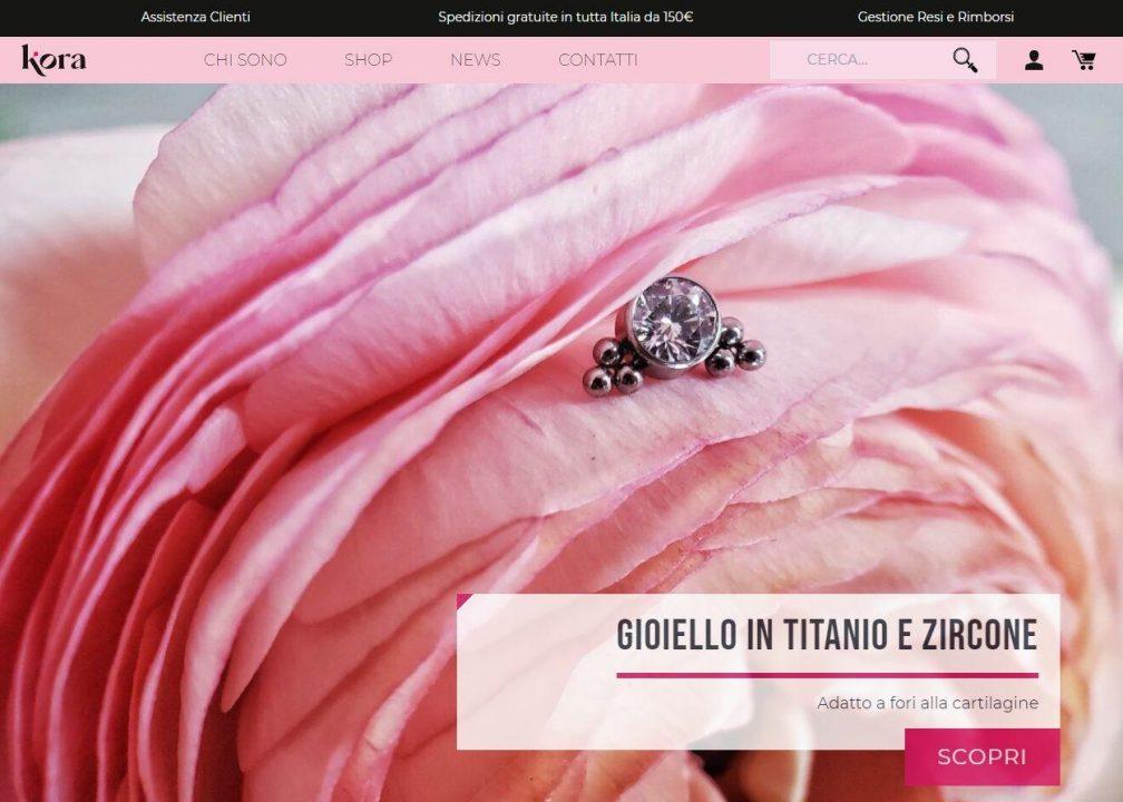 Homepage eCommerce Korapiercer