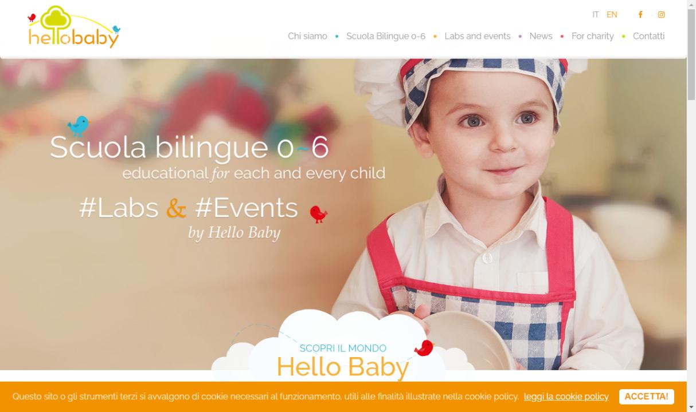 Homepage sito Hello Baby
