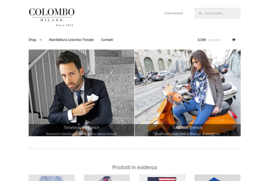 Sito eCommerce Colombo Milano 1911
